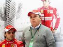 Felipe Massa with father Luis in the Ferrari pits