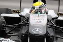 Nico Rosberg applies plenty of steering lock