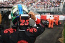 Lucas di Grassi stops on the circuit