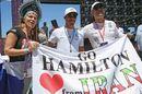 Lewis Hamilton and fans