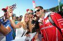 Sebastian Vettel fans selfie