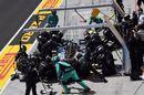 Valtteri Bottas makes a pit stop