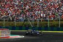 Pascal Wehrlein on track in the Sauber