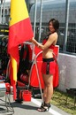 Fernando Alonso's grid girl on race day