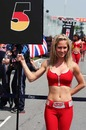 Sebastian Vettel's grid girl on race day