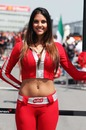 A McLaren grid girl on race day