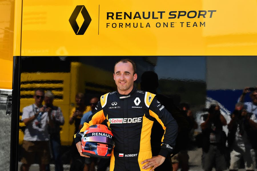 Robert Kubica in the paddock