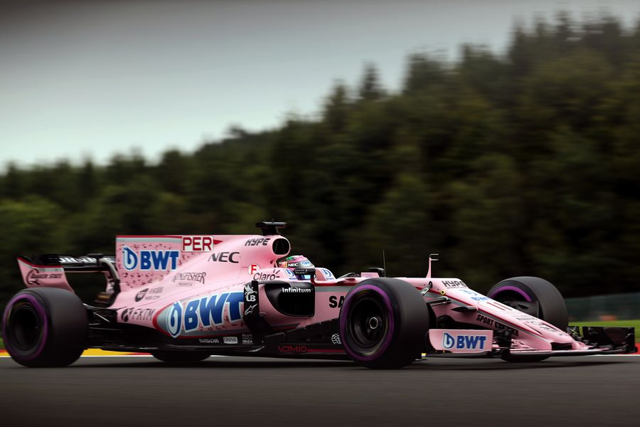 Sergio Perez on track in the Force India