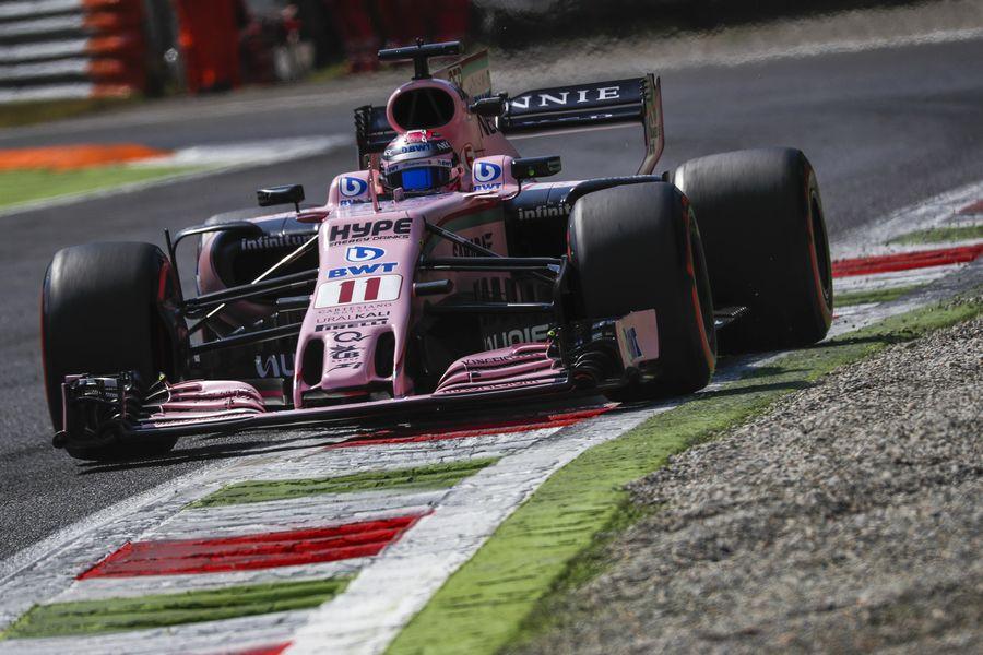 Sergio Perez on track in the India