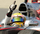 Lewis Hamilton salutes the fans after winning in Montreal
