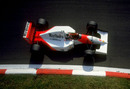 Gerhard Berger rounds the parabolica