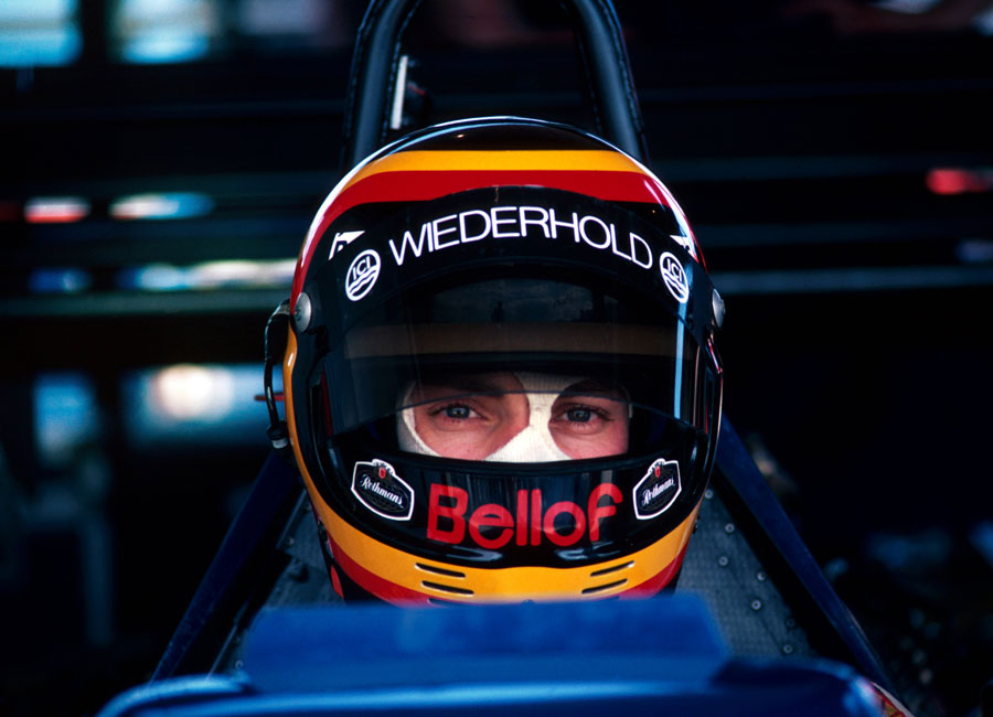 Stefan Bellof waits to head out on track