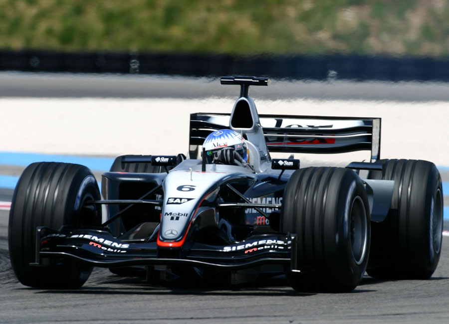 Alex Wurz tests the McLaren MP4-18