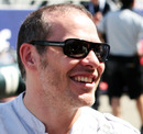 Jacques Villeneuve on the pit straight before the race