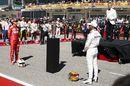 Sebastian Vettel and Lewis Hamilton on the grid