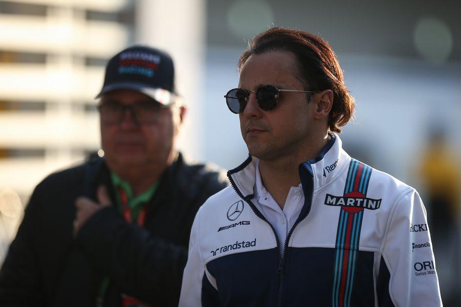 Felipe Massa in the paddock