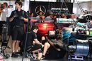 Mercedes W08 Hybrid is worked on in the garage