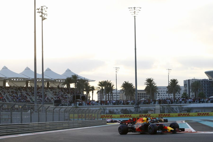 Daniel Ricciardo on track in the Red Bull