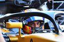 Carlos Sainz jr in the cockpit