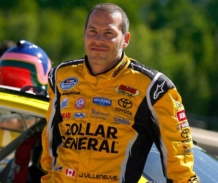 Jacques Villeneuve came close to winning on his return to NASCAR racing at Road America on Saturday
