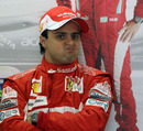 Felipe Massa at the back of his garage