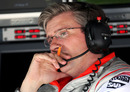 Pat Fry on the McLaren pit wall