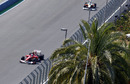 Fernando Alonso leads a Force India in Free Practice
