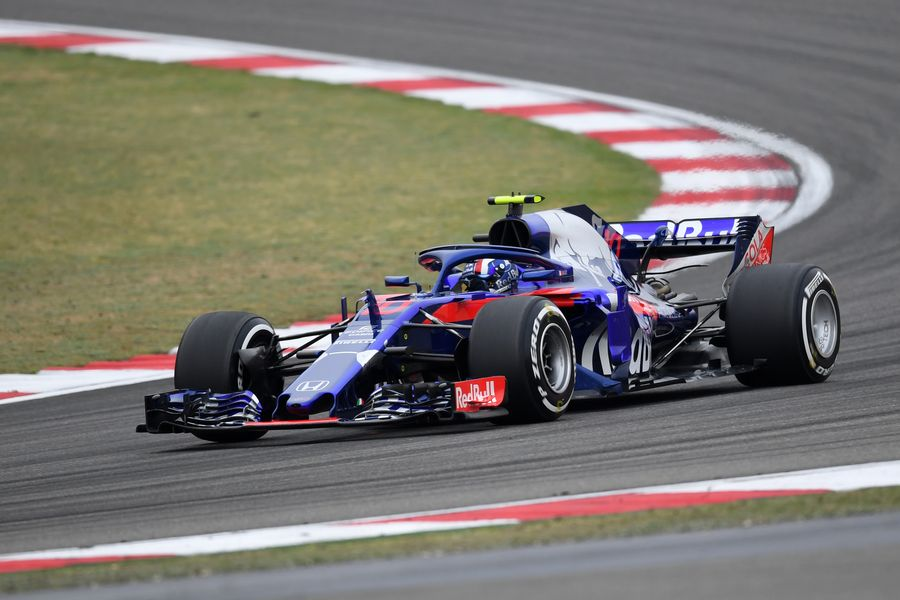 Pierre Gasly on track in the Toro Rosso