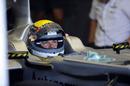Nico Rosberg prepares to go out