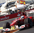 Fernando Alonso pushes during Free Practice 2