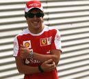 Fernando Alonso enjoying himself at his home circuit