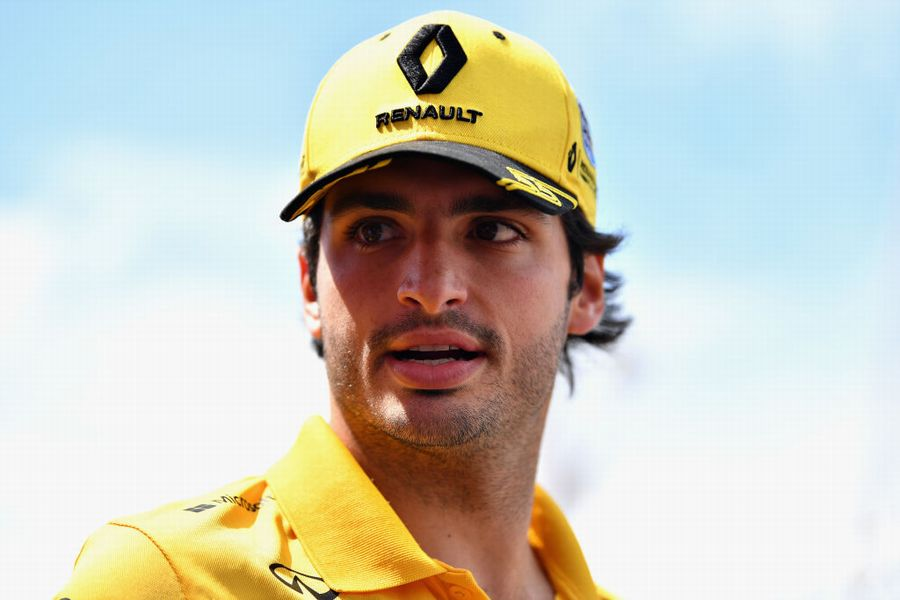 Carlos Sainz in the Paddock