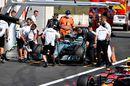 Valtteri Bottas returns to the pit