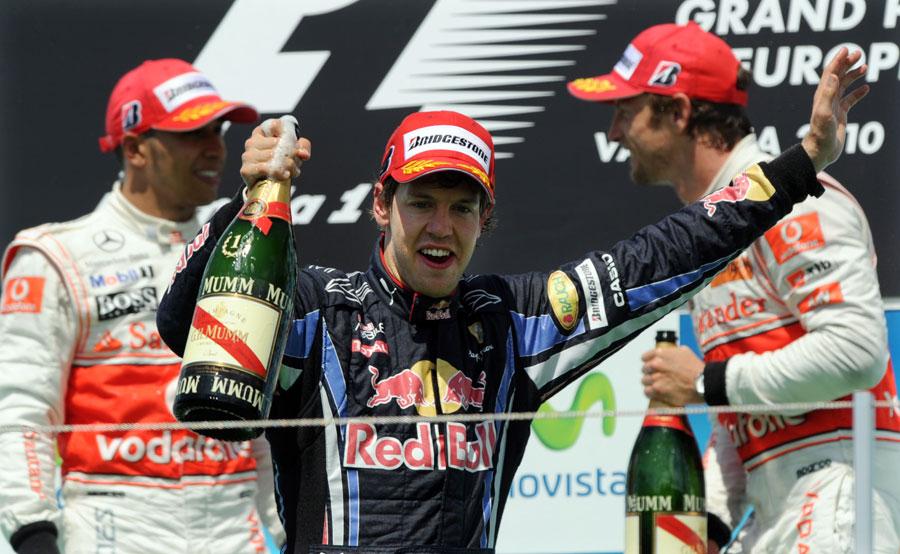 The top three on the podium