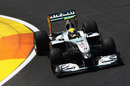 Nico Rosberg suffers with understeer in his Mercedes