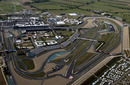 An aerial view of the Magny Cours circuit