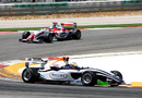 Race winner Dean Stoneman leads Jolyon Palmer on his way to victory
