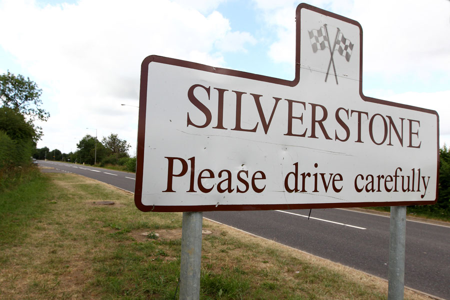 A Silverstone Village road sign