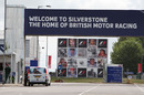 The main entrance to the Silverstone circuit