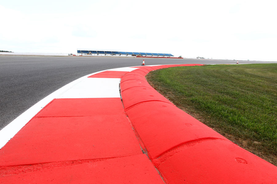 Kerbing on the new Silverstone infield section