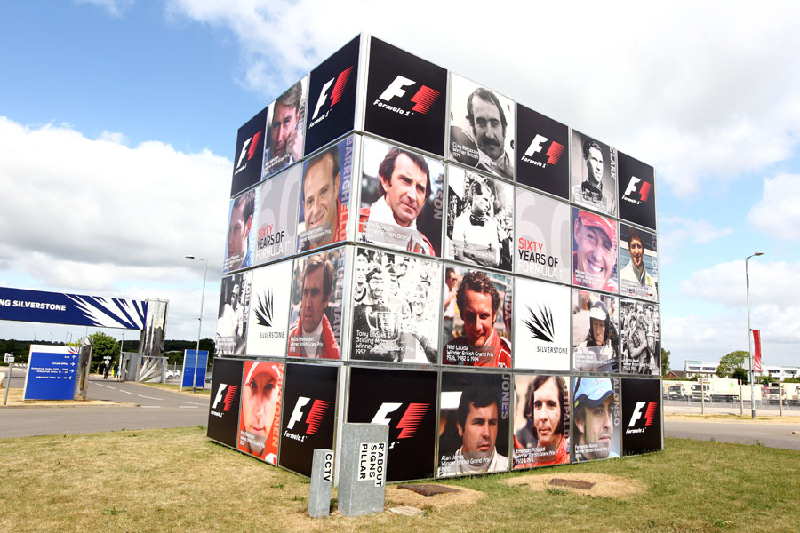 Circuit signage by the Silverstone entrance