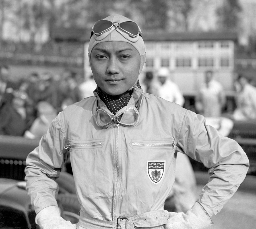 Prince Bira before a race