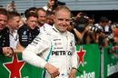 Valtteri Bottas celebrates in parc ferme