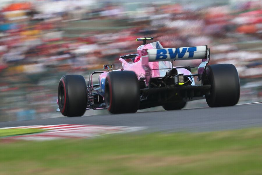 Esteban Ocon on track in the Force India