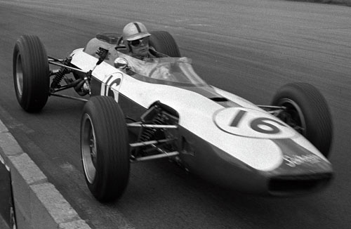 Ian Burgess in action for BRM
