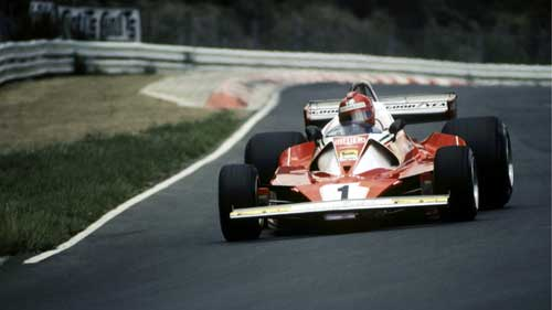 Niki Lauda at the Nurburgring before his huge accident