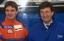 Martin Donnelly (L) and Eddie Jordan at Silverstone