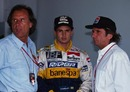 (L-R): Wilson, Christian and Emerson Fittipaldi
