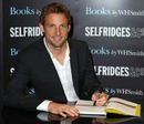 Jenson Button signs his book at Selfridges