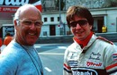 Murray Walker and Martin Brundle in the Monaco paddock